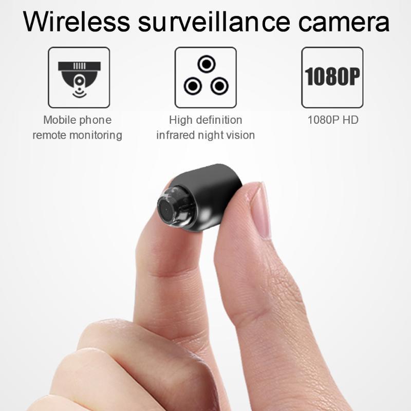 مصغرة كاميرات 1080P WIFI كاميرا Smart Home Security CCTV مع تسجيل فيديو تسجيل للرؤية الليلية كشف الحركة