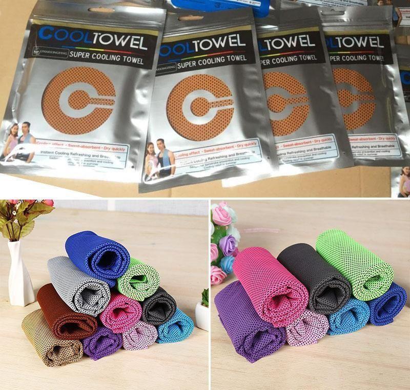 Textiles Home Gardensports Factury Fitness Running Absorción de sudor Enfriamiento frío al aire libre Montajeering Sports Wipe Towel Drop Entrega 2021