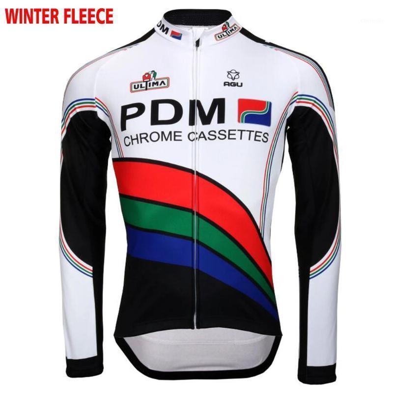 Jersey à vélo à manches longues pour hommes White Retro Vêtements Vêtements hiver No / Vélo Wear1