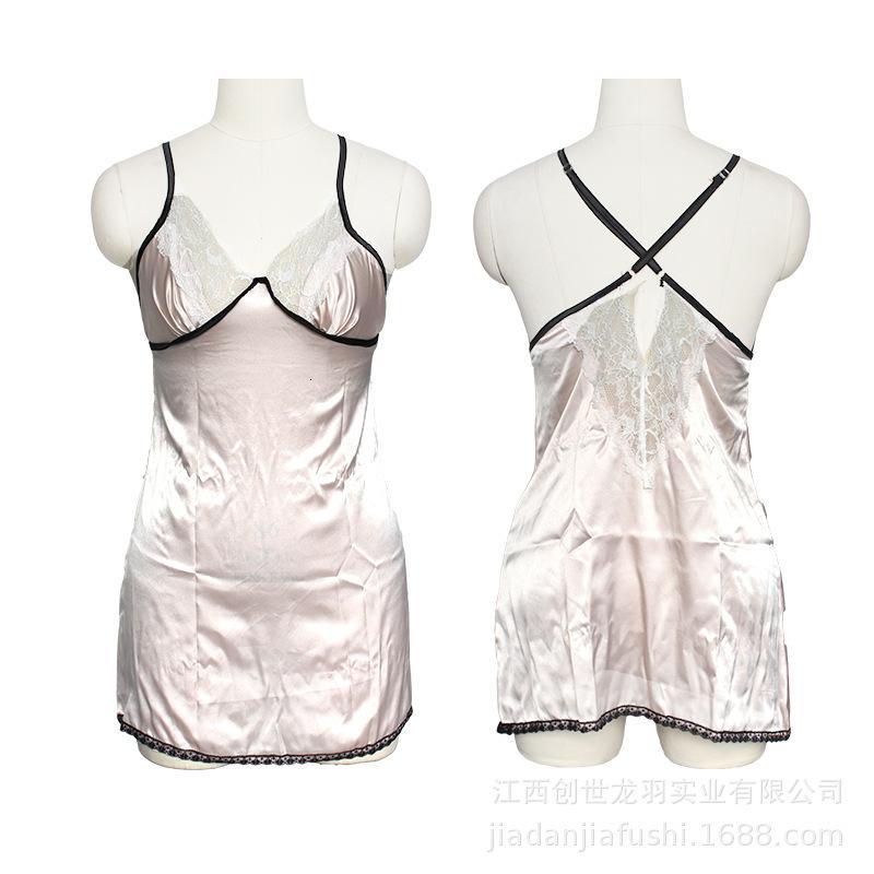 Ropa de dormir sexy ropa interior de mujer costuras de encaje abierto BA Condole Pijamas