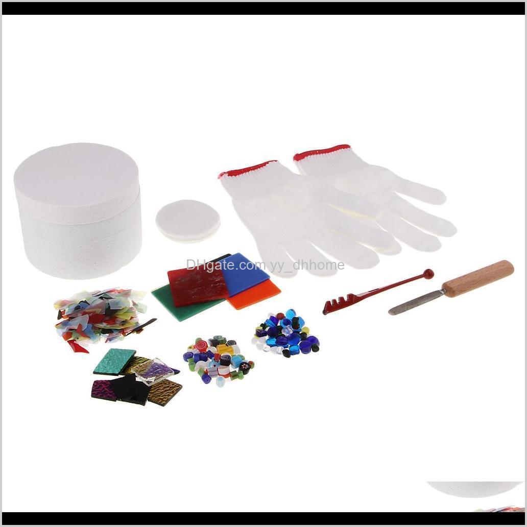 Confezione artistica e artigianato di 10pcs Piccoli gruppi macchiati per microonde Professional Kit Kit Kit Kit con fusione assortiti perline di vetro Charms VAWGS