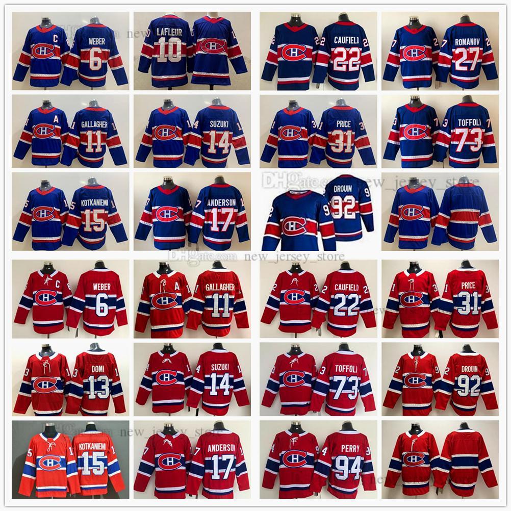 2021 Stanley Cup final Montreal Canadiens Ice Hóquei Jersey Cole Cole Cola Tyler Toffoli Romanov Nick Suzuki Shea Weber Gallagher Jesperi Kotkaniemi Carey Price