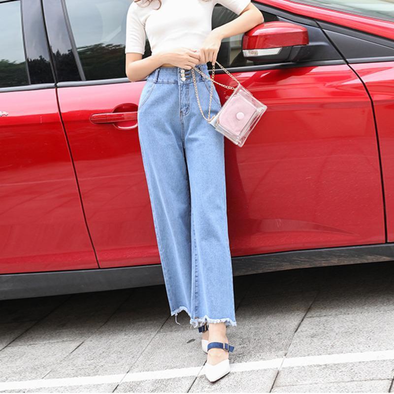 # 3057 donna pantaloni dritti a vita alta jean pantaloni donna sciolto blu ragazzo jeans per autunno denim femme plus size donne