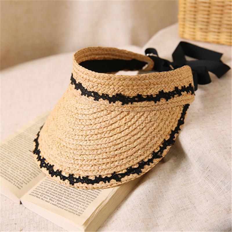 Khaki Encaje Sombrero Plegable Sombreros Para Viajar InCline Outdoorial Sombrero Sombrero Sombrero Moda Mujeres Sombrilla Paja Gorras