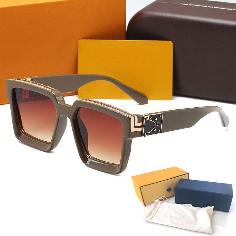 Designer di alta qualità moda uomo occhiali da sole occhiali da sole occhiali di lusso da donna occhiali da sole vintage uv400 protezione occhiali da vista cernellata in metallo con casi e scatole glitter2009