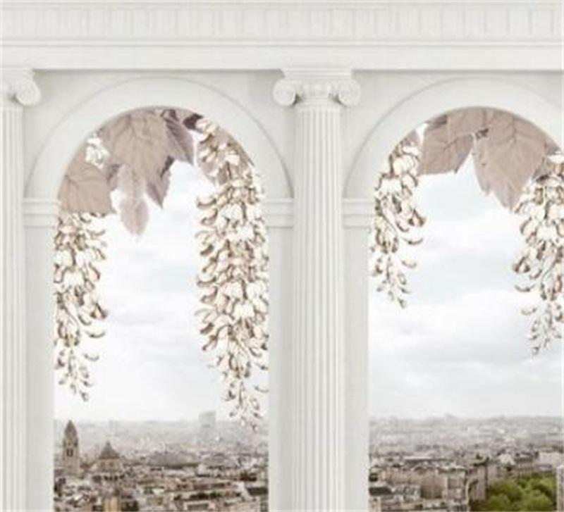 Atacado-personalizado Qualquer tamanho Fotografias de foto para sala de estar Quarto Home Decor Parede Papel de Parede Roman Coluna Papel de Parede 3D 690 V2
