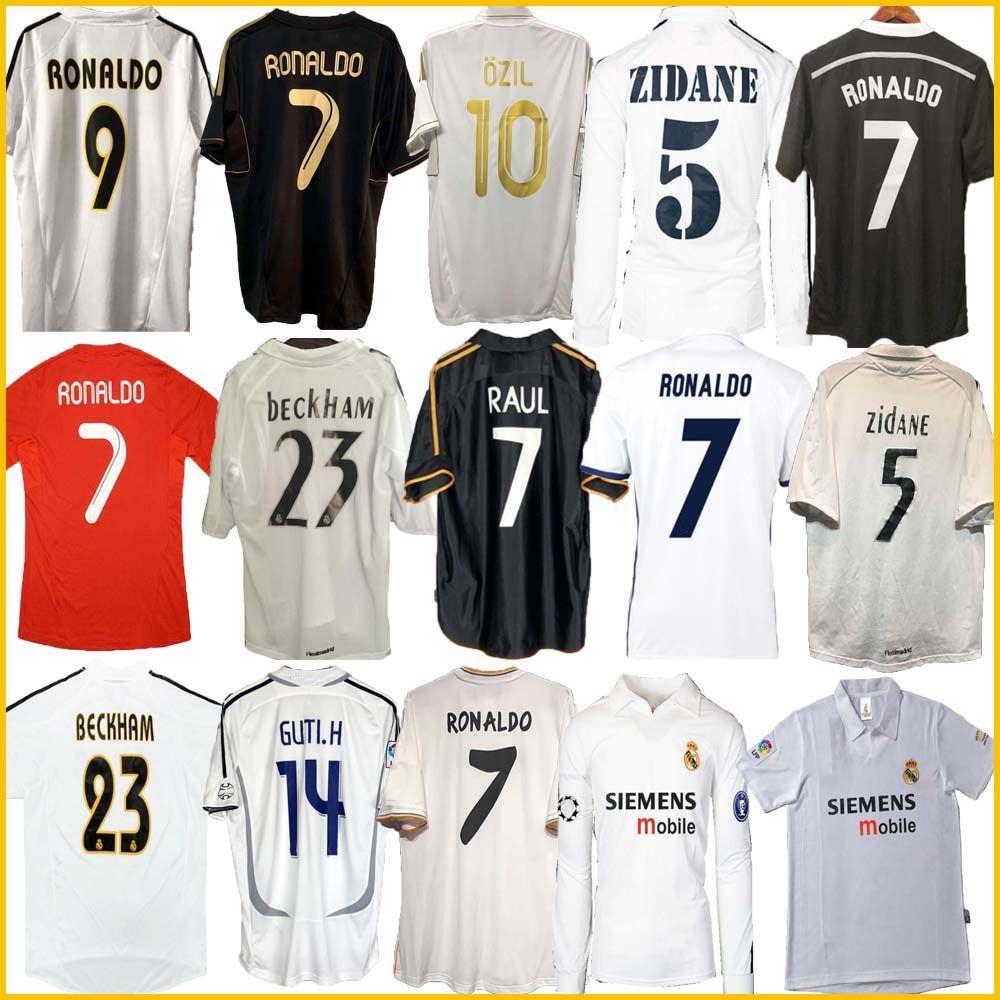 Finales Real Madrid Retro Fúltbol Jersey Guti Ramos McManaman 13 14 15 16 Ronaldo Zidane Beckham Raul Redondo 94 95 96 97 98 99 00 01 02 03 04 05 07 Carlos Seedorf