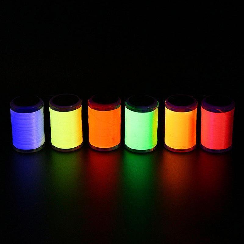 Angelschnur 6 optionale UV-Fluo-Farben 230M-Polyester-Fischdraht tragbarer Test-Binden-Thread Pike Fliegen Exklusiv-Gebrauch