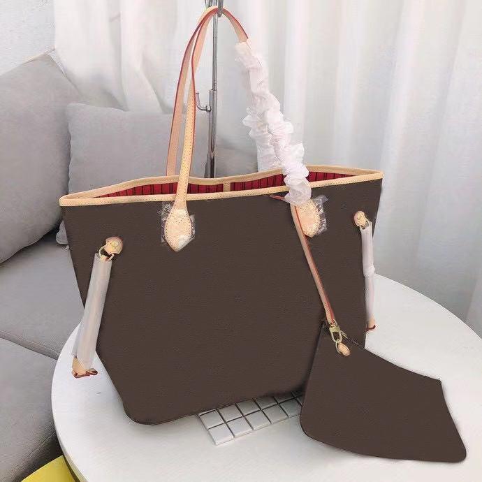 bolso de moda bolso de las señoras de moda de alta calidad de cuero bolso monedero gran capacidad de 2 pedazos envío libre