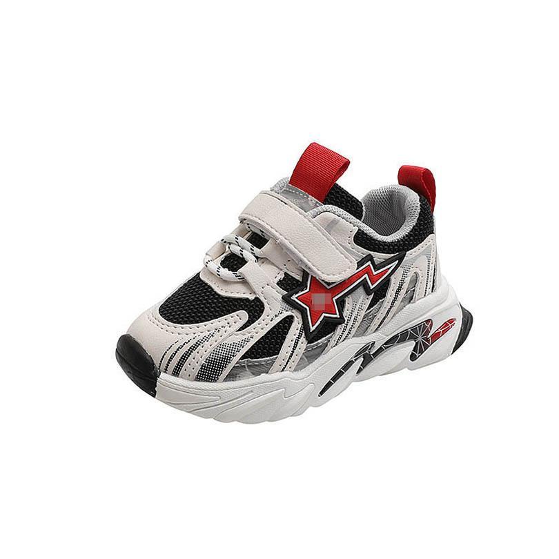 طفل رديس الاطفال أحذية طفل أحذية رياضية بنين بنات أحذية الأطفال الصغار ارتداء ربيع الخريف عارضة الجري الأحذية الأخفاف لينة B7425