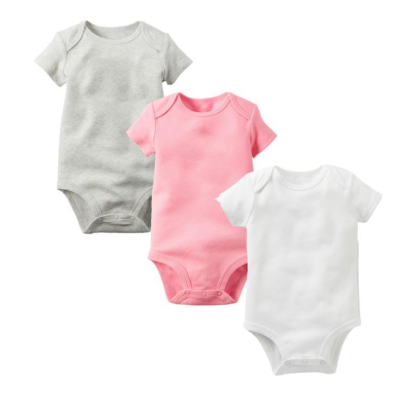 Baby Romper Baby Jumpsuits Coton Haute Qualité bon marché Couleurs solides Multi couleurs manches courtes Triangle Romper Baby Onesies 0-24M EUR 23 Y2