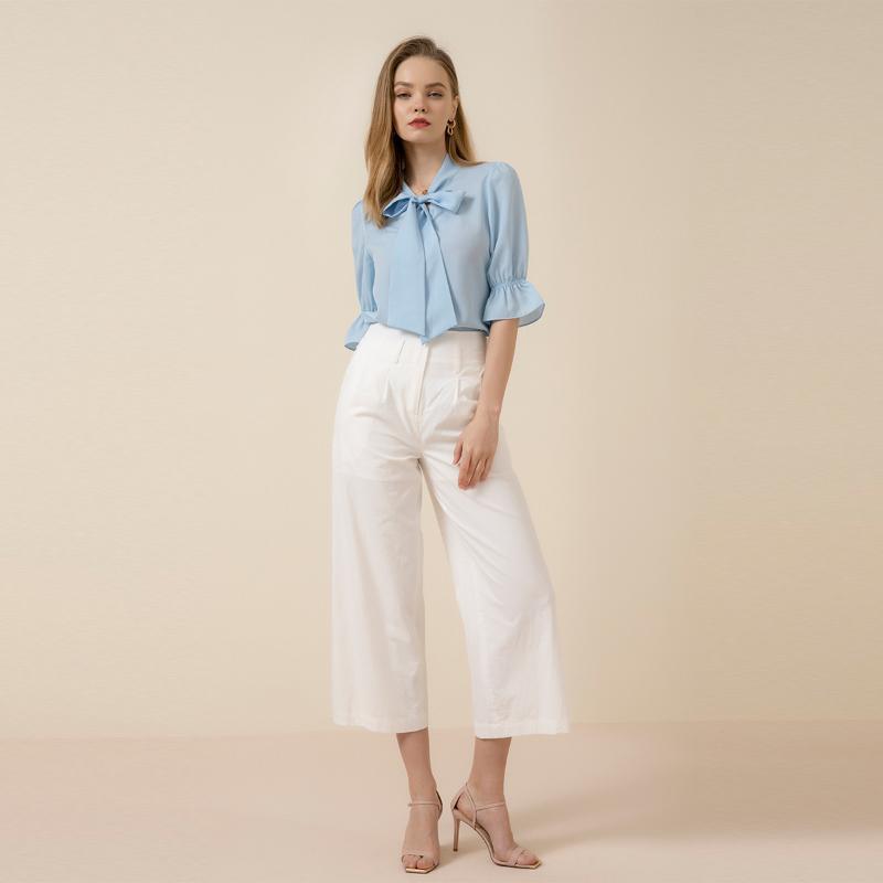Mode Frühling und Sommer zweiteilig 2021 Lose Top European American Damen Arbeit Hemd Casual Hosen Anzug Zwei Stück