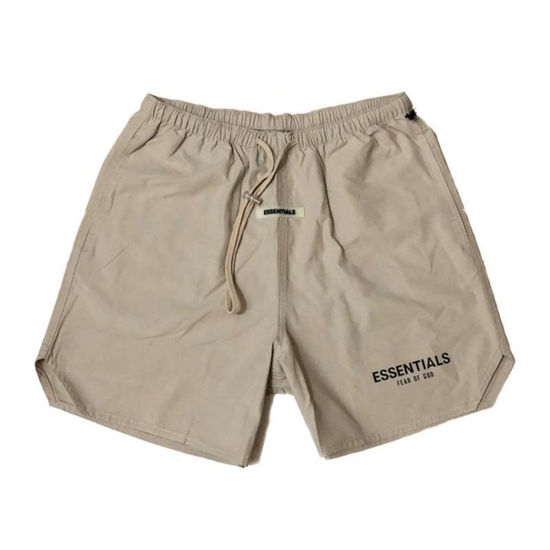 Fog Essentials Casual Hommes Sportif 3M Shorts réfléchissants Lettre Imprimer Vintage Streetwear Fitness Hip Hop Hop Hab-pantalon Pantalon 210329