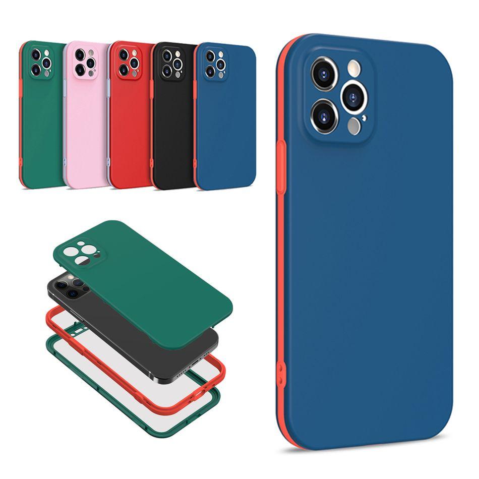 360 전체 커버 iPhone 12 11 Pro Max Mini XR XS X 8 7 6 Plus에 대한 1 개의 휴대 전화 케이스