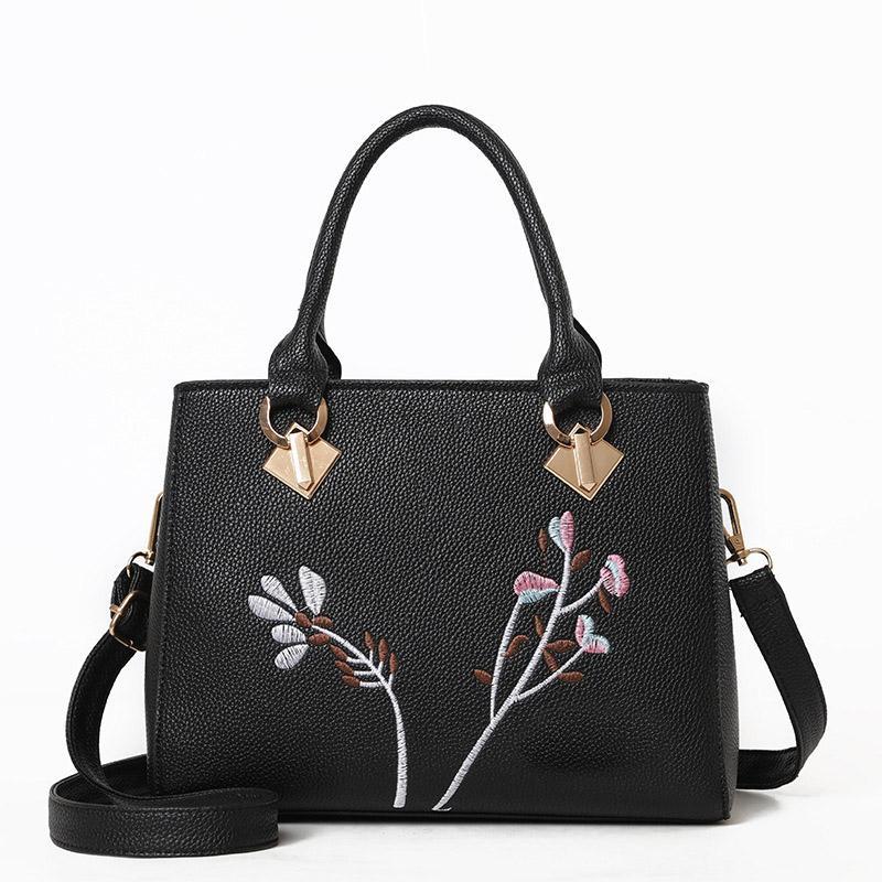 HBP женская сумка 2021 мода вышивка сумочка европейская американская простая универсальная цветная контрастное плечо мешок