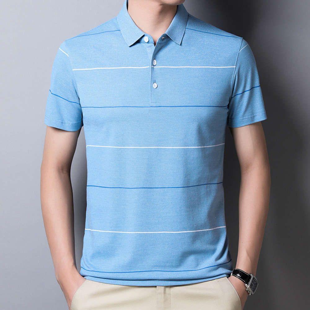 Polos с коротким рукавом поло 2021 летняя футболка среди мужчин в средних возрасте 20603