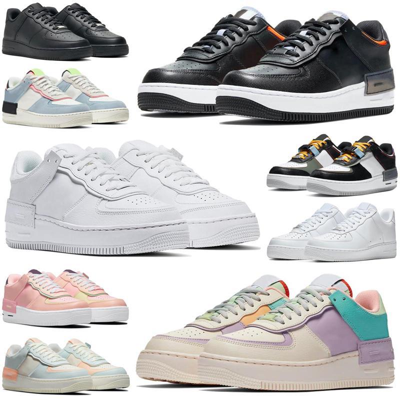1 one af1 dunk low shadow zapatos para hombre hombres mujeres utilidad triple negro blanco marfil pálido Spruce Aura zapatillas deportivas