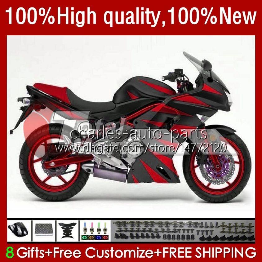 Kawasaki Ninja ER 6 F 2006-2008 ER6 F 650 R 650R 06-08 Body 6F ER 6F 2006 2007 2008 650-R ER6F 06 07 08オートバイフェアリゾーン光沢レッドBLK