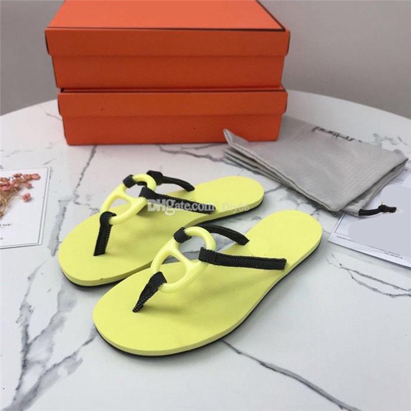 Klasik Marka Slaytlar Tasarımcı Terlik H Sandalet Kadınlar Yüksek Topuklu Kauçuk Slayt Sandal Platformu Terlik Tıknaz Topuk Yükseklik Ayakkabı Yaz Kabartmalı Çevirme Kutusu ile