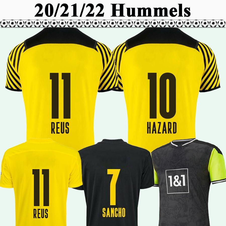 20 21 22 Reus Hummels Mens 축구 유니폼 위험 Weigl Piszczek 홈 멀리 3RD Schmelzer 늑대 축구 셔츠 짧은 소매 유니폼