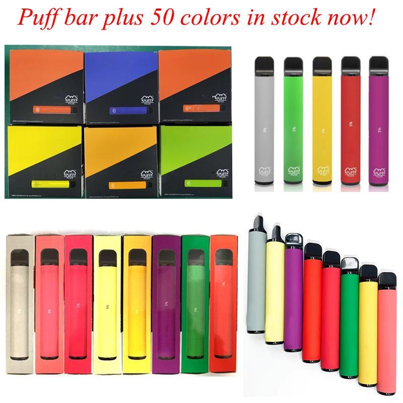 Puff Bar Plus Cigarrillos 800 + Puffs Vape Vape Pen 550mAh Batería 3.2ml Cartuchos de vaporizadores de edición limitada rellenos preempleo