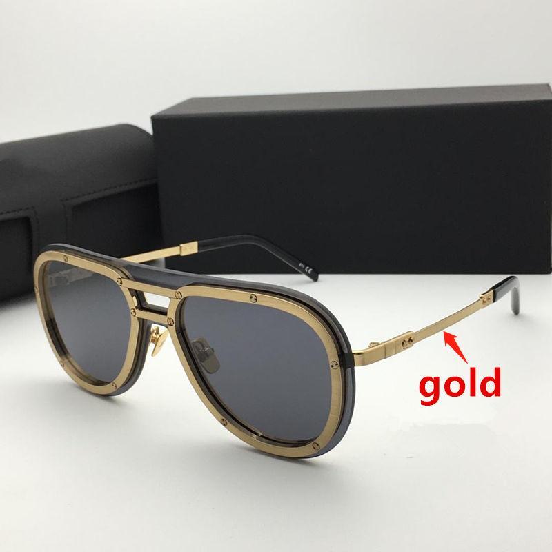 Летние солнцезащитные очки для мужчин и женщин 007 Анти-ультрафиолетовые ретро тарелки модные очки случайная коробка H007