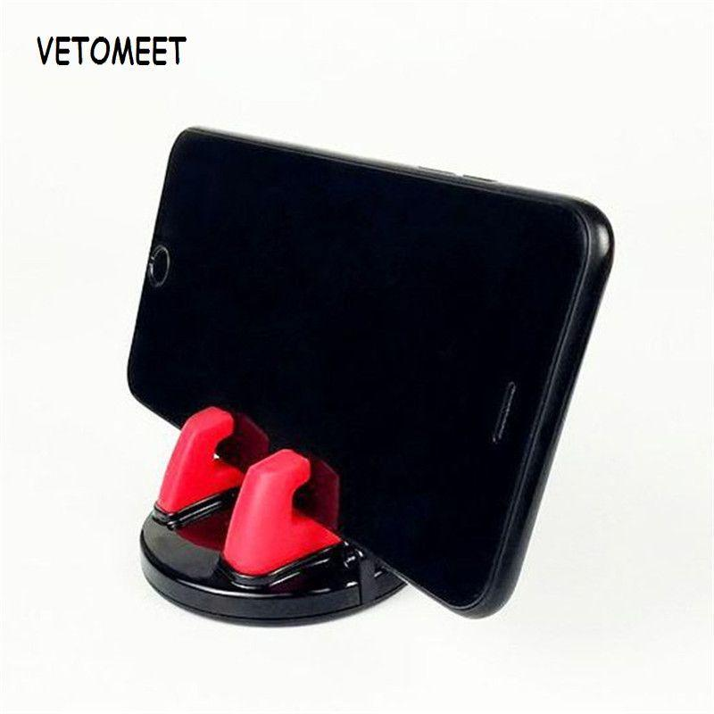 Cell Phone Mounts & Holders VETOMEET Car Holder Universal Silicone Mount Mobile SmartPhone No Magnetic For XS X In