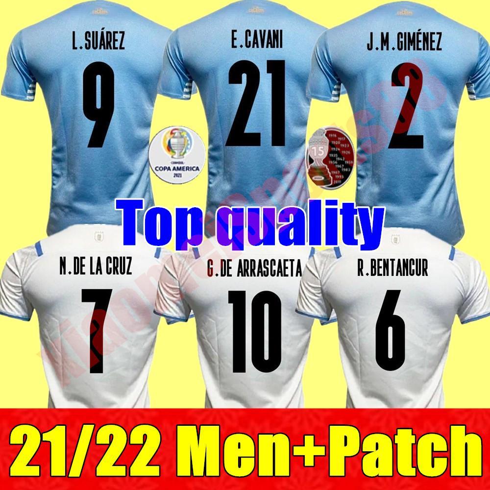 21 22 코카메어 America Uruguay 축구 유니폼 2021 홈 L.Suarez E.Cavani Shirt D.Godin Andernation National Team 축구 유니폼