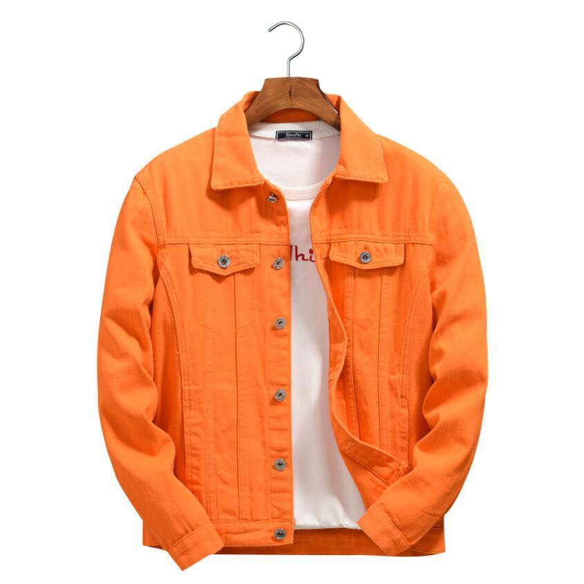 Знаменитые мужские джинсовые куртки мужские женщины высокого качества повседневные пальто фиолетовые и оранжевые моды мужские S стилист джинсы куртка ковбой верхняя одежда размер M-4XL