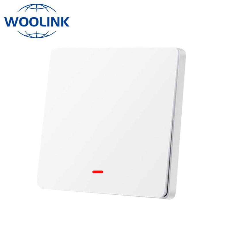Smart Home Control Woolink Tuya ZigBee Switch 220V Kein Neutral Push-Button Wandleuchte Kompatibel Alexa Google Assistant Life
