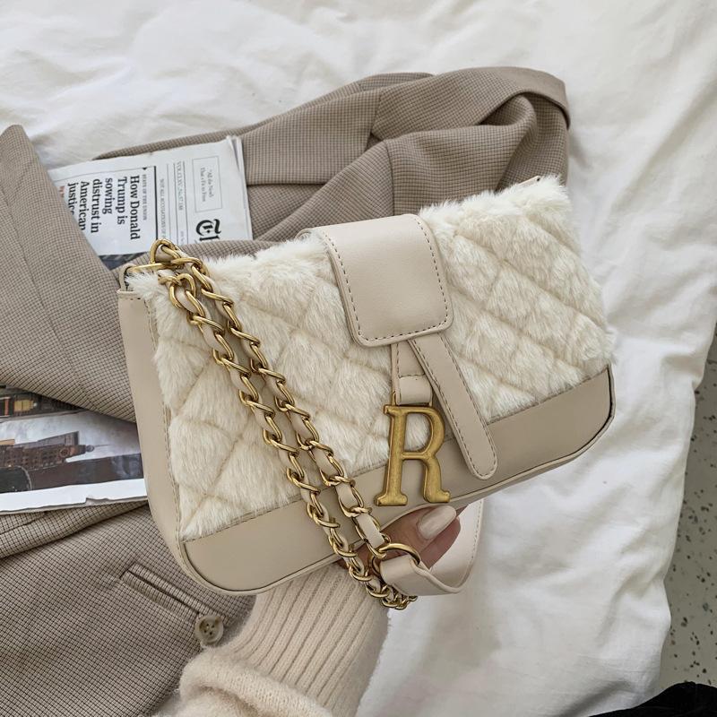 Damen Rucksack Maomao Temperament Kleine Quadratische Kette Schräge Single Schulter Flut Brief Stickerei Tasche