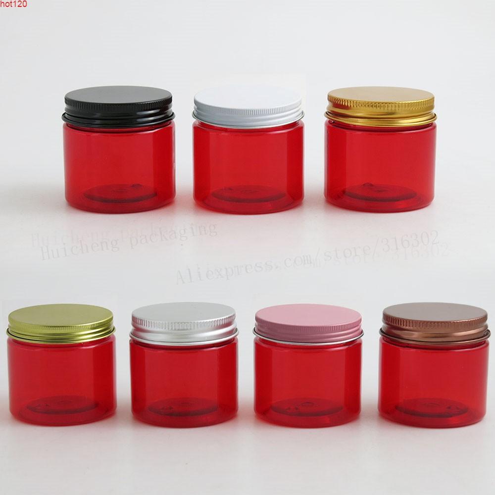 24 x travell 60g kırmızı evcil hayvan krem kozmetik kapları kavanoz 60cc 2oz boş makyaj şişeleriGood