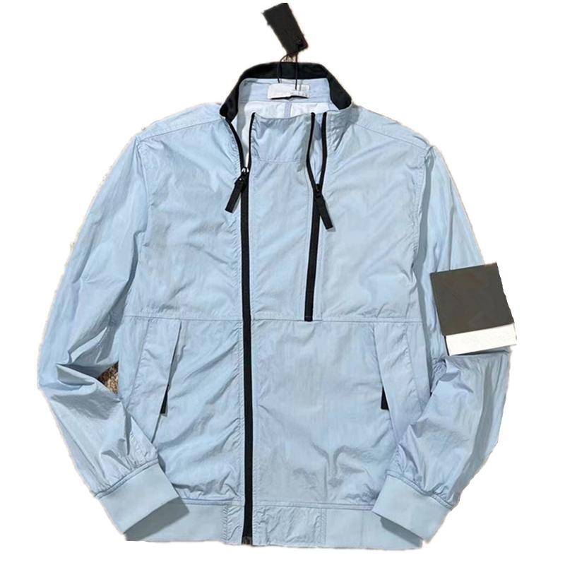 Cptopstoney 봄과 여름 레저 기능 스타일 남성 자켓 패션 멀티 포켓 윈드 브레이커 지퍼 코트 까마귀 가을 야외 탑