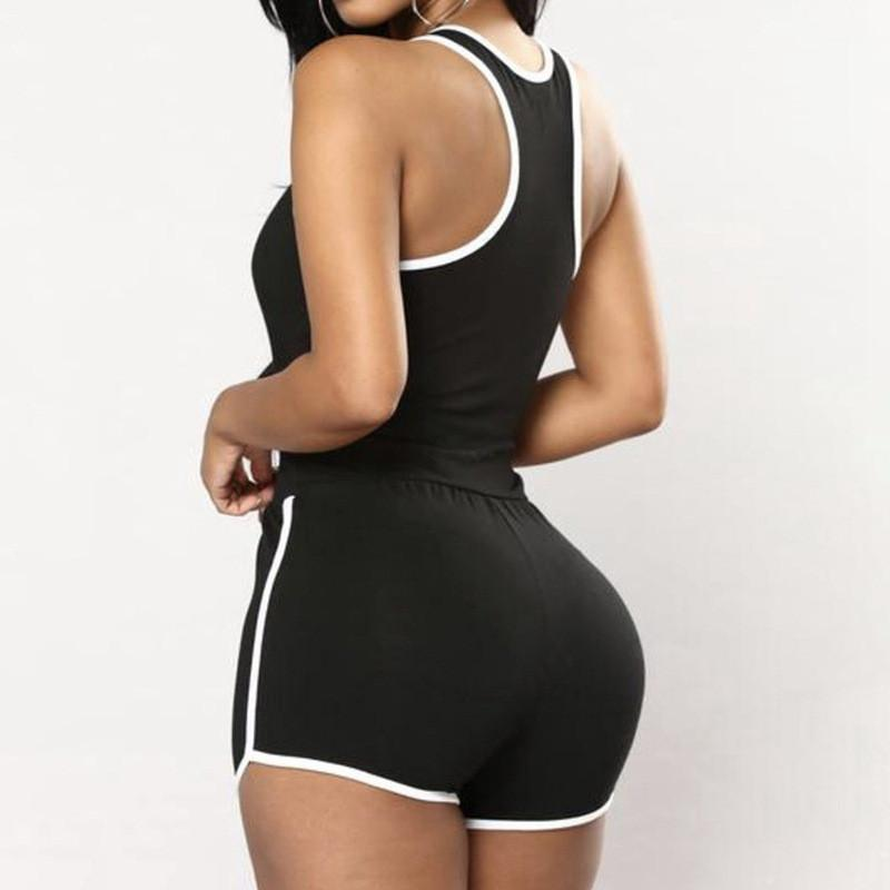Jumpsuits & Rompers Strap Bodycon Biker Shorts Playsuit Sports Romper Party Jumpsuit Sunsuit Outfits Women's Sexy Women Sleeveless