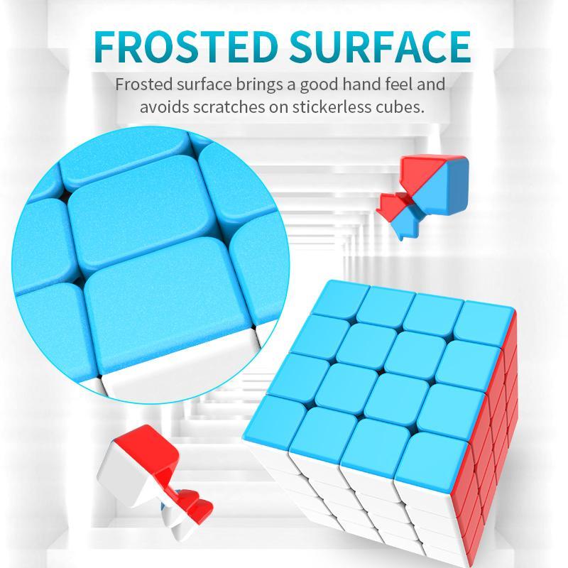 Moyu Meilong 4x4 Magic Cube 4x4x4 Velocidad Magic Puzzle Strickerlesst Cubo Magico Mini Tamaño Juguetes para niños