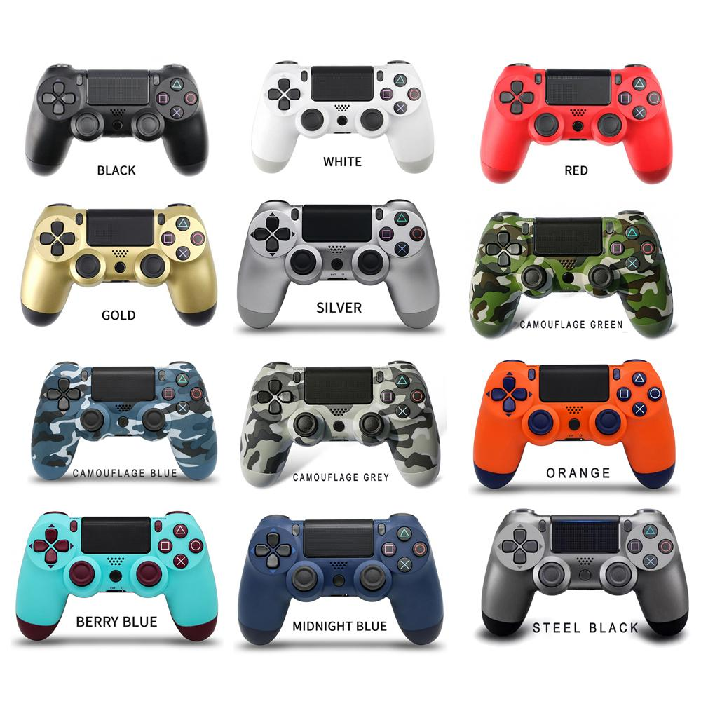 Controller wireless Bluetooth portatile senza logo 22 colori Vibrazione Joystick Video Gamepad per Sony PS4 Play Station
