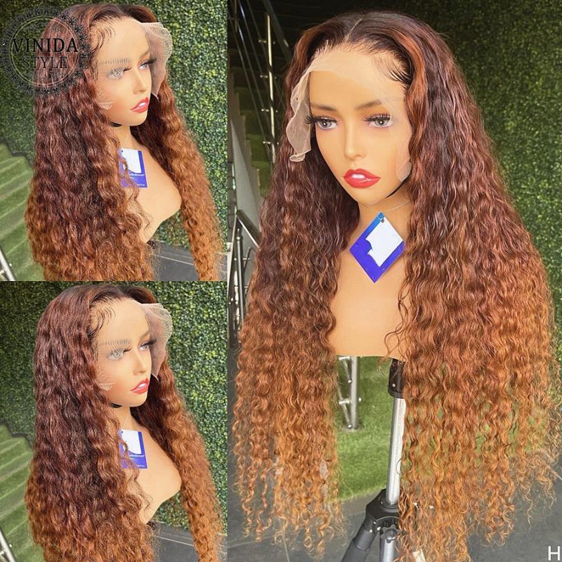 Dantel peruk vinida tarzı vurgulamak 13x4 ön insan saçı kıvırcık 180% remy olmayan Brezilya 8-24 '' Kadınlar için pretted
