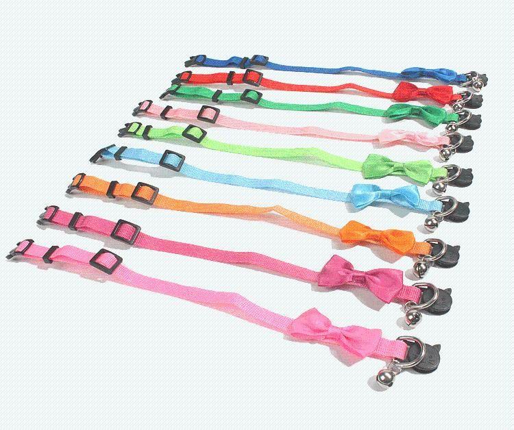 Collari per cani Guinzaglia Cat Collar Forniture per animali da pet tiratura in nylon campana regolabile misura adatta per gatti e cani di piccola taglia