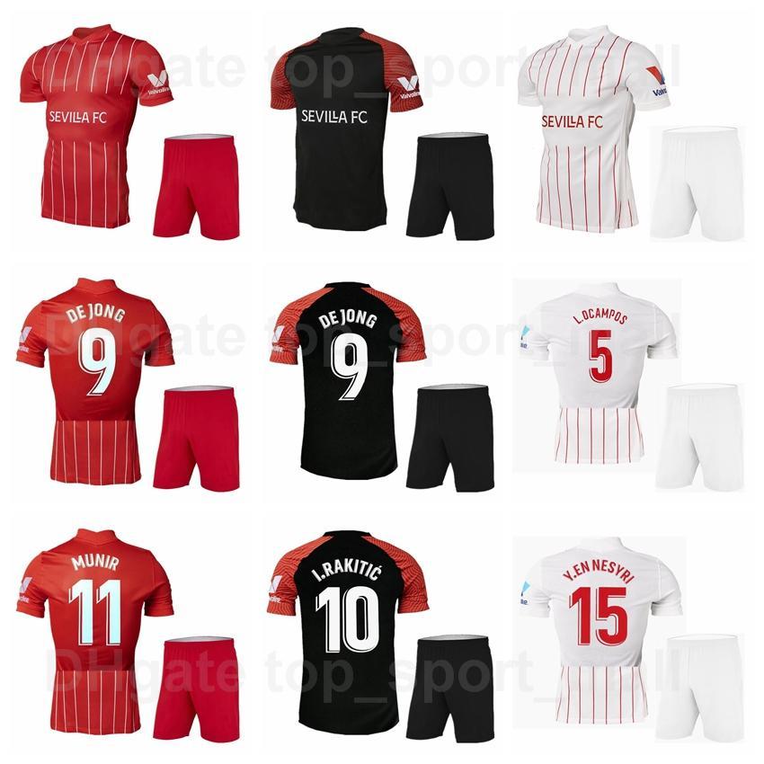 2021-22 Mężczyźni FC Soccer 5 Lucas Ocampos Koszulki Zestaw 15 Youssef En-Nesyri 16 Jezus Navas 10 Ever Banega 12 Jules Kounde 20 Diego Carlos Koszulki piłkarskie Zestawy Sai Wei Li Ya