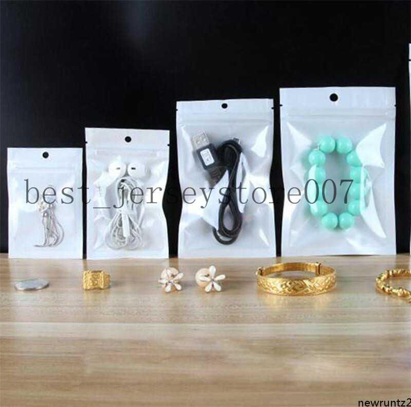 Auto sello claro blanco perla plástico poly opp empacando paquetes al por menor joyería comida PVC bolso de plástico Muchos tamaño Mylar