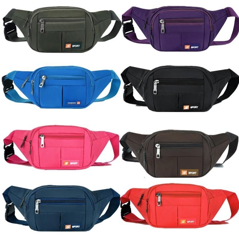Fitness açık çapraz vücut çalışan bel çantaları çok fonksiyonlu cüzdan erkek mobil