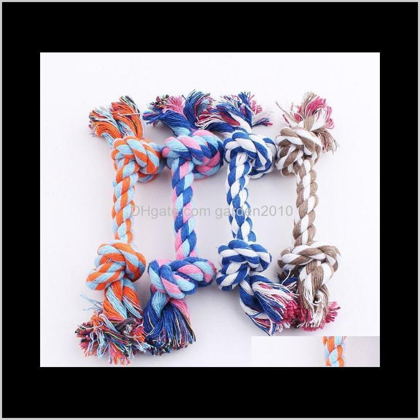 Multi Double Head Cotton Rope Knot Odontoprisis Hand Knitting Resistance To Bite Toys Chews Dog Pet Supplies Ha307 0Ktl8 5Zgav