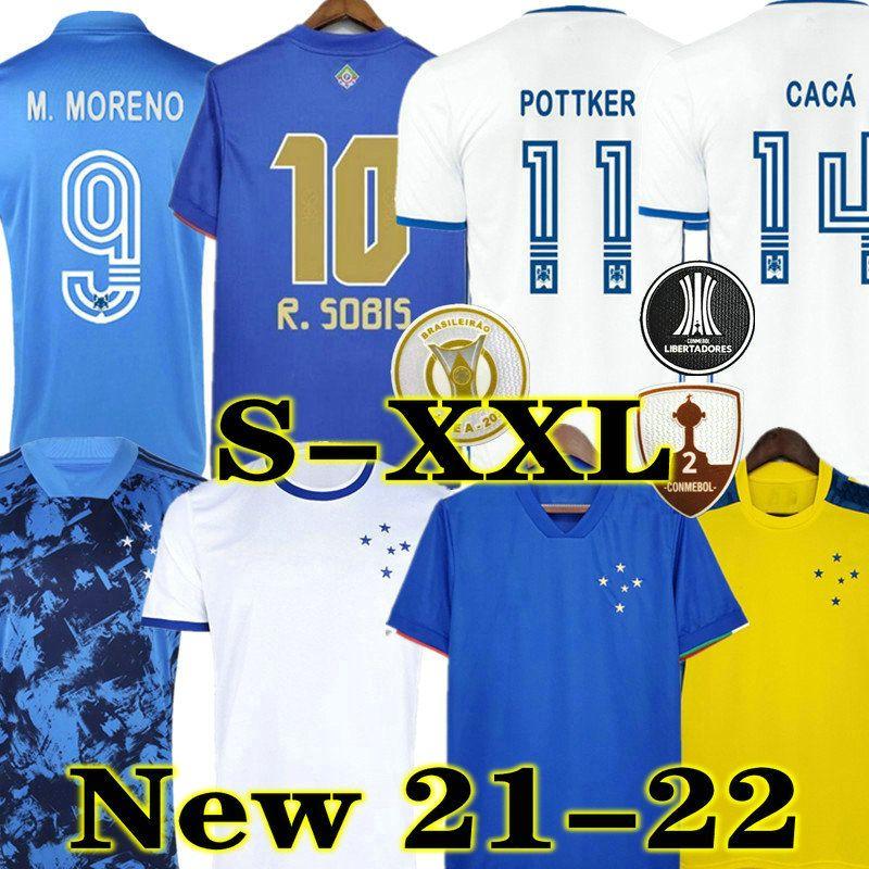 2021 2022 Cruzeiro Fussball Jersey 21 22 De Arraskaeta Fred Robinho Thiago Neves Football Hemd Cruzeiro Home Club Camisas Sassá