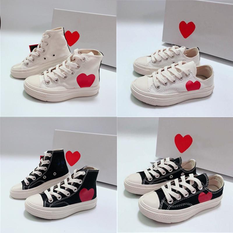 2021 عيون كبيرة الحب القلب الأحذية المسطحة 1970s الأطفال الجري سكيت الأحذية صبي فتاة شاب كيد الرياضة حذاء رياضة الحجم 28-35