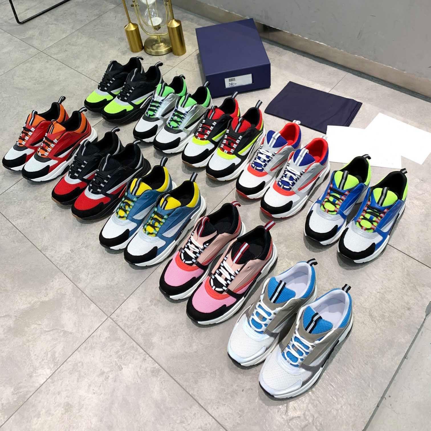 Tasarımcı Ayakkabı B22 B23 Sneakers Erkekler Beyaz Siyah Örgü Rahat Ayakkabı Kadınlar Düz Tuval Sneaker Retro Patchwork Spor Pamuk Bağcıklar Ile Büyük Boy 35-46