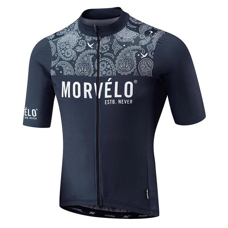 MORVELO Team Cycling Jersey Mens Summer Short Sleeve MTB Shirt Mountain Bicycle Clothing Maillot Ropa Ciclismo Racing Bike Clothes Y21052704