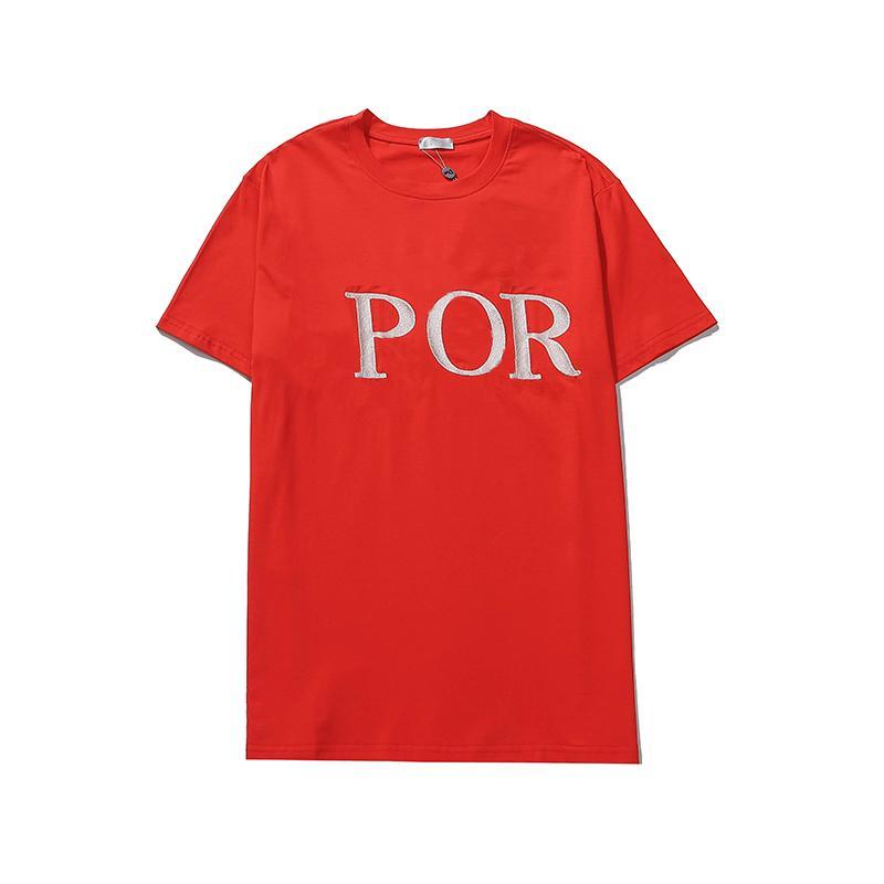 2021 Designers Camisetas Mens Carta Impressão Pullover Vestuário Hommes Europa e América Estilo Verão Luxo Ladies T-shirt Mulheres roupas