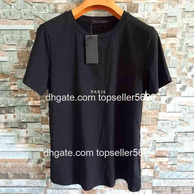 Mens lettre Imprimer T-shirts Noir Mode Designer Été Haute Qualité Top à manches courtes Taille S-XXL