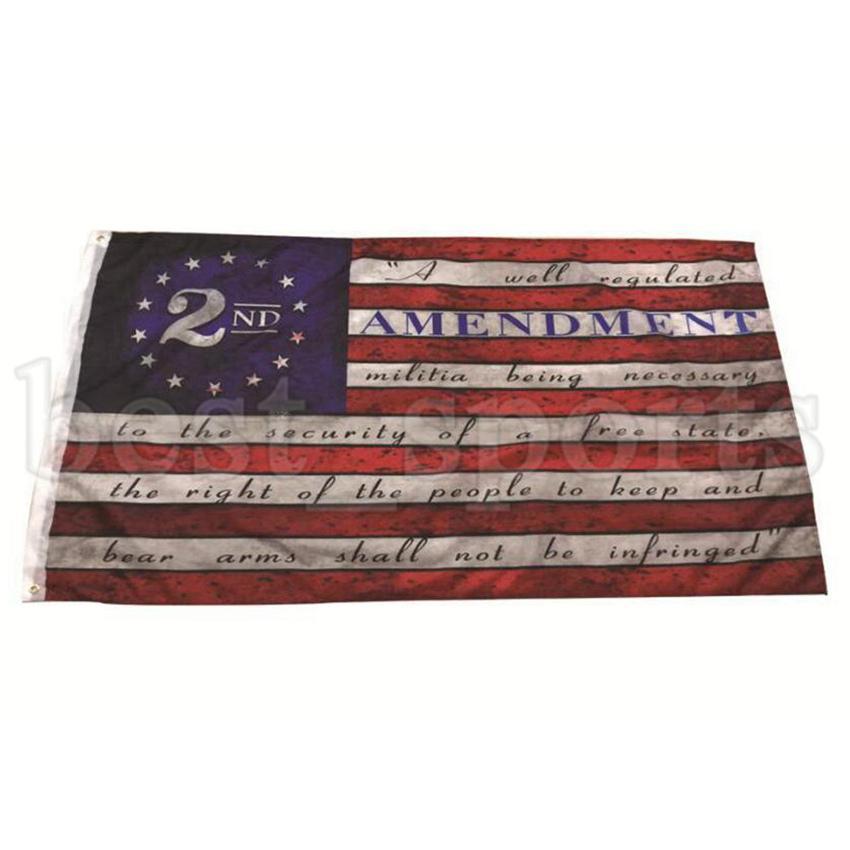 2. Değişiklik Vintage Amerikan Bayrağı Açık Banner Bayrak 90 cm * 150 cm Polyester ABD Koleji Basketbol Bayrakları CYZ3213