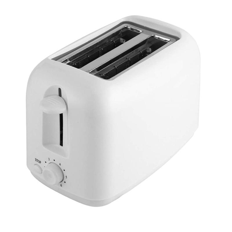 Macchina per pane Tostapane 2 Slice Acciaio inossidabile Slot extra largo slot compatto tostapane elettrica piccola macchina per waffle